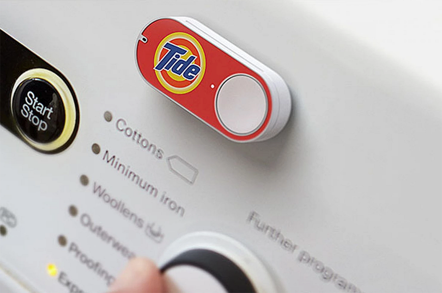 Amazon Dash Button. The physical button that buys products online